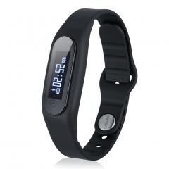 Bluetooth Wristband with Pedometer Sleep Monitor Watch For Android And IOS Black
