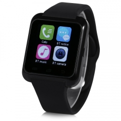 Smart Watch With Sleep Monitor Pedometer Function Black One Size