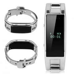 [LOWEST PRICE]Gift for lovers- Bluetooth Smart Bracelet Watch for Android IOS Silver One Size