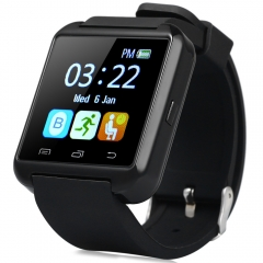 U8S Outdoor Sports Bluetooth 3.0 Smart Watch with Remote Camera Black One Size