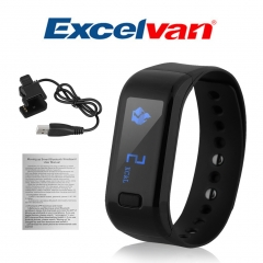 Smart Bracelet Waterproof for Android IOS Black