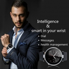 Bluetooth Smart Watch for IOS Android Sliver