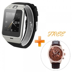 Excelvan NFC Bluetooth Smart Watch with Camera Unlocked SIM Phone Watch for Android IOS Black One Size