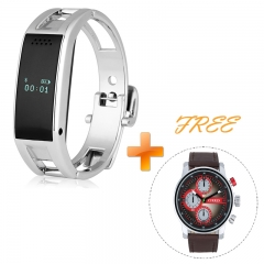 Gift for lovers- Bluetooth Smart Bracelet Watch for Android IOS Silver One Size