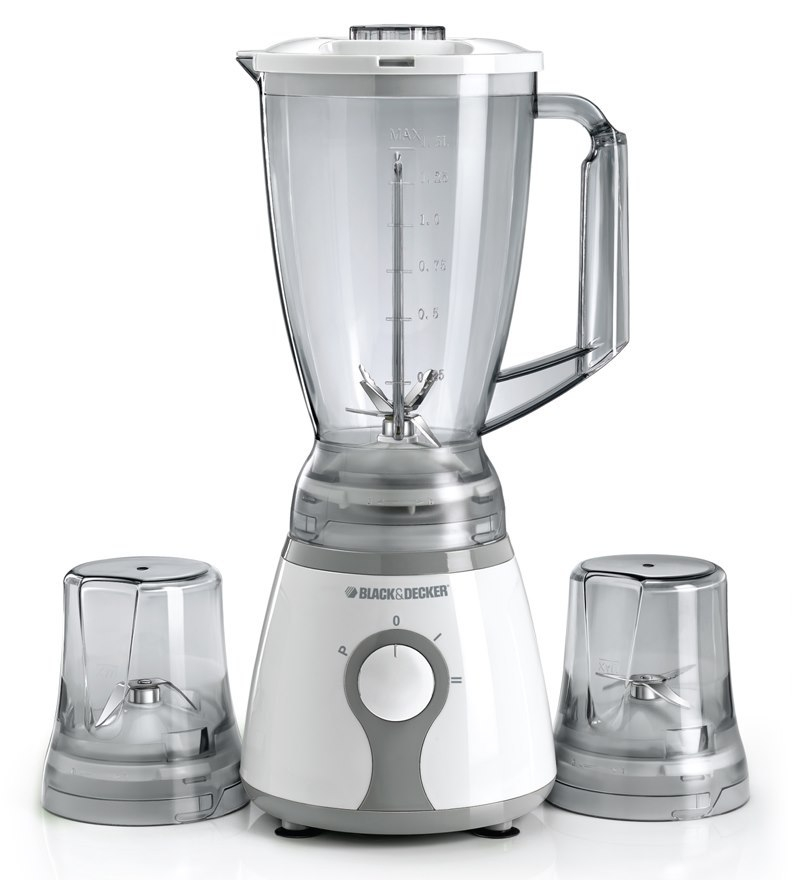 Black & Decker, White, & Glass, Blender, With Grinder, Six Blade System, Ice Crusher
