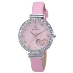 Sparkling Elegant Charm Skone Model 9315-4 Leather Ladies Watches