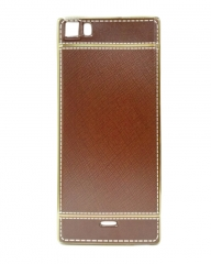 INFINIX Zero 3 (X552) Back Cover - Brown With Leather Finish brown 5.5