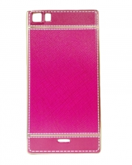INFINIX Zero 3 (X552) Back Cover - Pink With Leather Finish pink 5.5