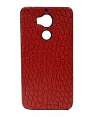 INFINIX Zero 4 Plus (X602) Back Cover - Red With Leather Finish red 5.5