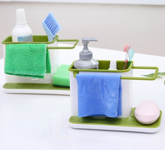 Sink Aid Organizer Brush Sponge Cleaning Cloth Holder kitchen Tidy Stand Green One Size