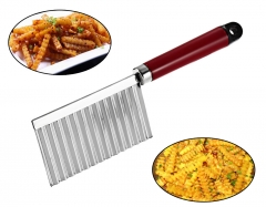 Potato Wavy Edged Knife Stainless Steel Plastic Handle Cooking Tools Kitchen Accessories as the picture One Size