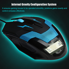 Optical 1600 DPI USB 2.0 Wired 3D Competitive & Professional Athletics Gaming Mouse for Laptop & PC