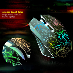 Six Buttons Optical USB 2.0 Wired Wheel Colorful Gradient Professional Athletics Gaming Mouse