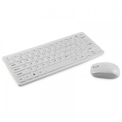 Slim Mute Wireless Keyboard and Mouse Combo White one size