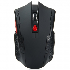 2.4GHz Wireless Gaming Optical Mouse with 6 Buttons 2400DPI Receiver Black one size