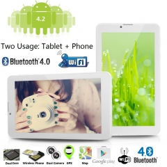 "Excelvan, 7"" Phablet, Dual SIM, Android 4.2, 8GB ROM White BT-MT91"