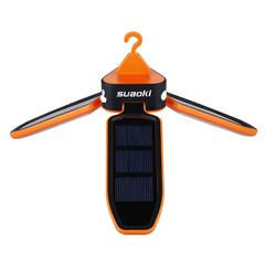 Suaoki Outdoor Solar Panel Foldable Water Resistant LED Lantern for Camping Hiking Orange LED Lantern