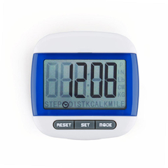 Mini LCD Pedometer Calorie Walking Running Distance Calculation Digital Counter Sports Pedometer Blue