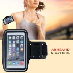 Sports Armband Waterproof Case Key Pocket Black 4.7