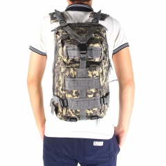3P Military Tactical Backpack Oxford Outdoor Sport Bag for Camping Traveling Hiking Trekking ACU Camouflage 30L