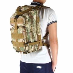 3P Military Tactical Backpack Oxford Outdoor Sport Bag for Camping Traveling Hiking Trekking CP Camouflage 30L
