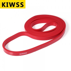 KIWSS 208CM Natural Latex Body Building Yoga Exercise Crossfit Loop Physio Resistance Band Red 208cm