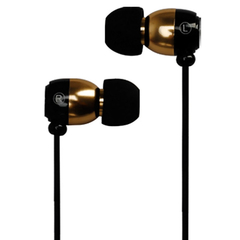Metrans MH01 Intelligent 3.5mm Earphone Golden with Black
