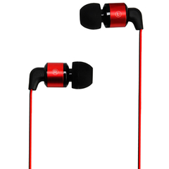 Metrans MH02 Intelligent 3.5mm Earphone Red with Black