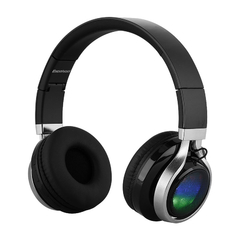 EXCELVAN  Wireless Bluetooth LED Stereo Headphones Classic Adjustable Headsets Black