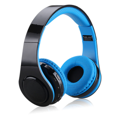 EXCELVAN Wireless Bluetooth LED Stereo Headphones YS-BT9919 Blue