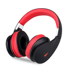 Ausdom AH2 Wireless Bluetooth Foldable Flexible Headphone Business Hands-Free Headset Black with Red