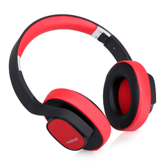 Ausdom M08 Wireless Bluetooth  headphone Sound Rich Bass Music Business headset Black with Red