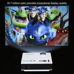 Excelvan UC40 800 Lumens Portable Mini LED Projector Multimedia Home Cinema Theater USB/AV/SD/HDMI White One size
