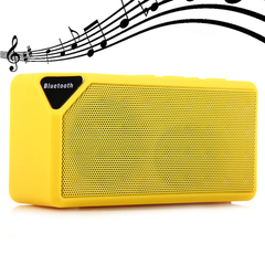 Multifunctional Mini Bluetooth Speaker Yellow One size