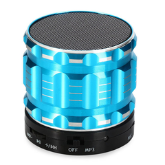 S28 Mini Wireless Bluetooth Bass Stereo Speaker Blue One Size