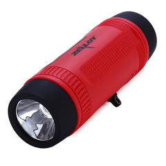 ZEALOT S1 3 in 1 Outdoor Portable Bicycle Wireless Bluetooth Speaker Flashlight Power Bank Red One Size