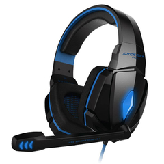 EACH G4000 Pro Gaming Headset Stereo Sound Wired Headphone Noise Reduction with Microphone Blue