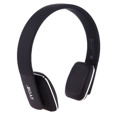 BOAS LC - 8600 Wireless Bluetooth Stereo Over Earphone Headset with Built-in Microphone Black