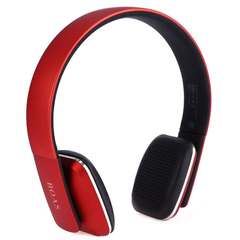 BOAS LC - 8600 Wireless Bluetooth Stereo Over Earphone Headset with Built-in Microphone Red