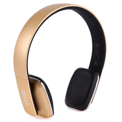 BOAS LC - 8600 Wireless Bluetooth Stereo Over Earphone Headset with Built-in Microphone Golden