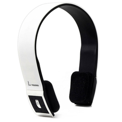 VEGGIEG V6100 Foldable Bluetooth EDR Hands Free Headset MP3 Music Headphone with Microphone White