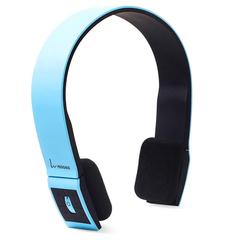 VEGGIEG V6100 Foldable Bluetooth EDR Hands Free Headset MP3 Music Headphone with Microphone Blue