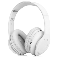 VEGGIEG V8800N Foldable Bluetooth EDR Hands Free Headset MP3 Music Headphone with Microphone White