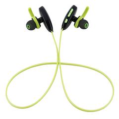 Bluetooth Headset wireless Voice Prompt BT hands-free Sports Earphone Black+Green
