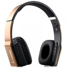 VEGGIEG V8200 Stretch Wireless Bluetooth  Hands Free Headset MP3 Music Headphone Gold