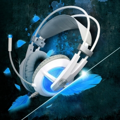 Somic G938 Virtual Surround Sound USB Gaming Headset with Mic Volume Control White