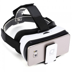 Deepoon V3 3D VR Glasses Virtual Reality Headset 96 Degree View Angle for Smartphone White and Black One Size