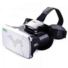 RITECH Riem 3 Virtual Reality 3D VR Glasses Head Mounted Headset Private Theater for Smartphone Black and Silver One Size