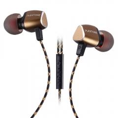PLEXTONE X36M Headsets Universal Metal Magnet Line-control Earphones Golden