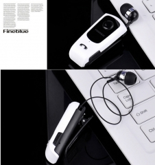 FINEBLUE F920 Wireless Bluetooth V4.0 Headphone Calls Vibration Remind Wear Clip Headset White